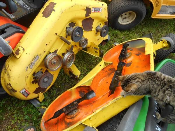 Photo John Deere-48quot deck, all brands tractors decks  parts - $400 (Wesley Chapel, Fla)