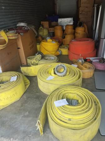 Photo Lot 35 Water Irrigation Agriculture Discharge Fire Supply Hose Canvas - $4,000 (Ta)