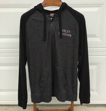 Photo Nice Harley Davidson Mens Hooded Shirt, Size Large - $30 (Holiday,FL)
