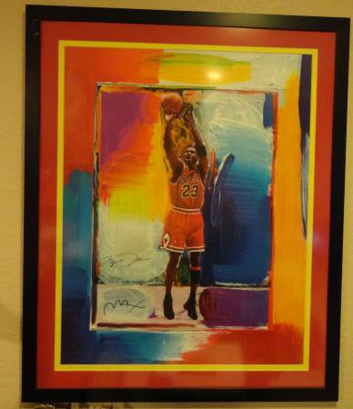 Photo PETER MAX Michael Jordan, The Last Shot Signed By Both Max  Jordan - $2,295 (Gulfport)