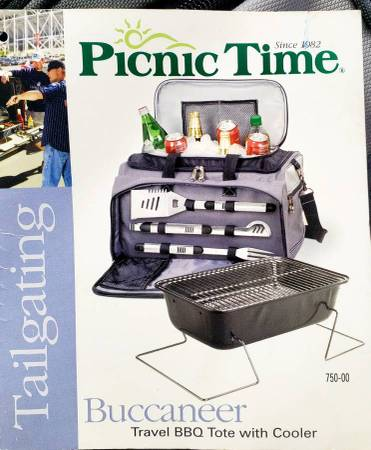Photo Picnic All-In-One Tailgating BBQ Grill  Cooler  Cooking Utensils NEW - $99 (Ta)