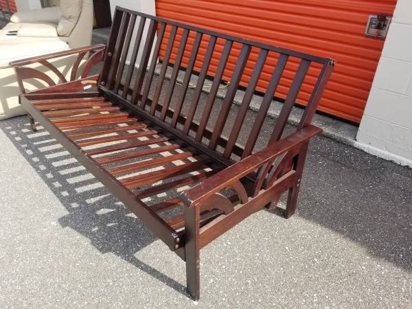 Photo Solid Wood,Full Size Futon Frame,Dark Wood - $95 (Clearwater)