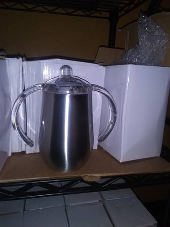 Photo Stainless steel tumbler blanks 10oz sippy and more - $10 (Riverview)
