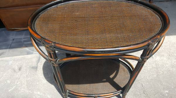 Photo Two-Level,Pier 1 Imports,Serving Table,Rattan,Bar,Hallway Table - $55 (Clearwater)
