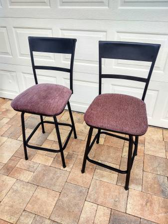 Photo Two bar stools - $40 (Clearwater)