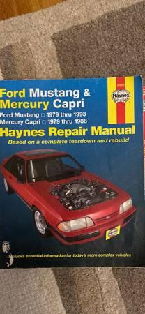 Photo 1979-93 Ford Mustang repair manual - $10 (Terre Haute)