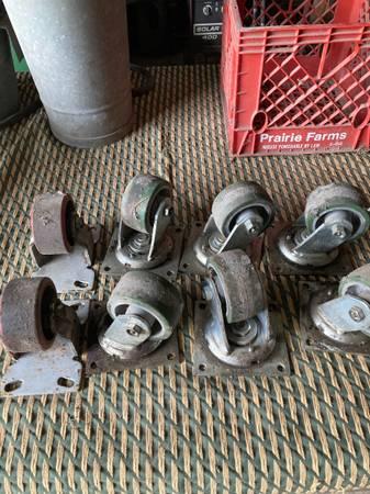Photo 8 heavy duty industrial casters - $50 (Danville Illinois)