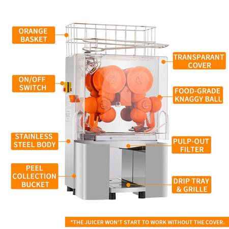 Photo Commercial Orange Juicer Machine Stainless Steel-Nuxiovo - $350 (Brazil, IN)