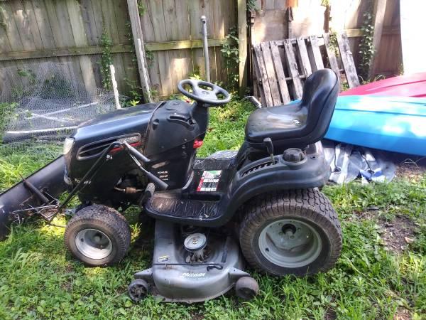 Photo Craftsman 26 hp 54 in. Deck, DGS 6500 Garden Tractor with Plow - $800 (Terre Haute)