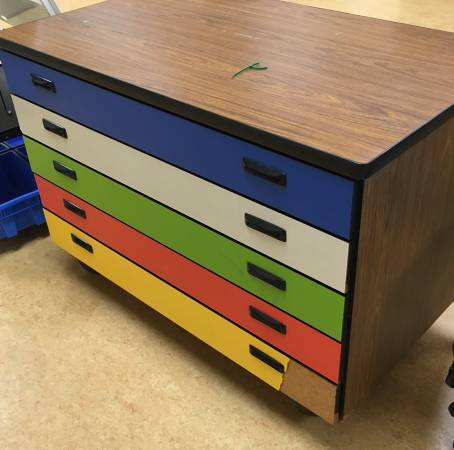 Photo Flat file parts cabinet Five wide drawers - $85 (Indianapolis Irvington)