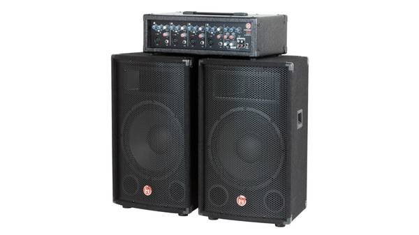 Photo Harbinger M120 120W 4-Channel Compact Portable PA with 12quot Speaker - $250 (Clinton)