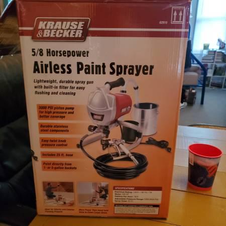 Photo Krause  Becker Airless Paint Sprayer - $200 (CASEY)