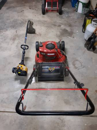 Photo Troy Built Self propelled Mower and Bolens Gas weed eater - $125 (Allendale)