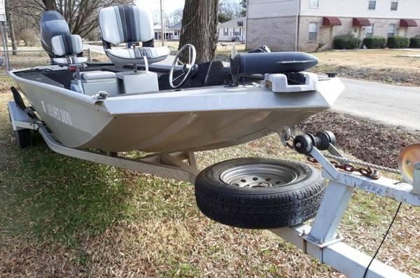 Photo 2005 1639 Lakesport Boat 90 HP OB Engine, Trailer  Trolling Motor - $8,800 (Atkins, AR Exit 94 off I-40)