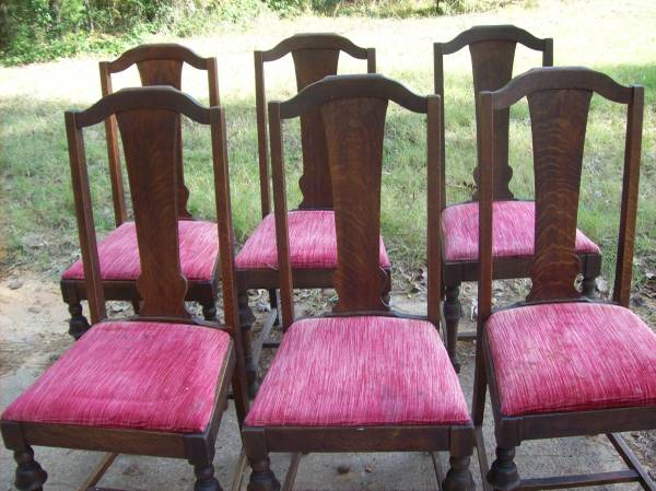 Photo 6 DINING CHAIRS VINTAGE OAK - $100 (CHANDLER)
