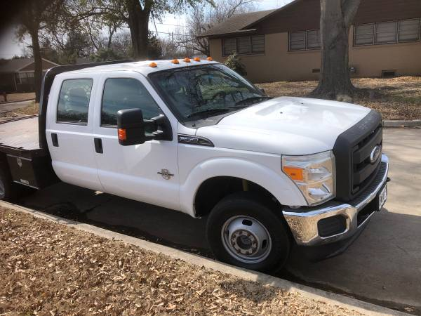 Photo 2011 FORD F350 WHITE 4 DOOR FLATBED - $25000 (Ardmore)
