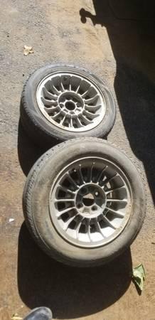 Photo 2 Fox Body 4 lug oem wheels - $40 (Durant)