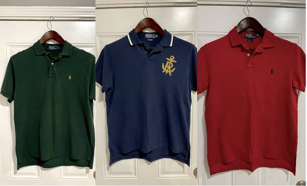 Photo Assorted Ralph Lauren Polo Shirts (X3) - $80 (South Plano)