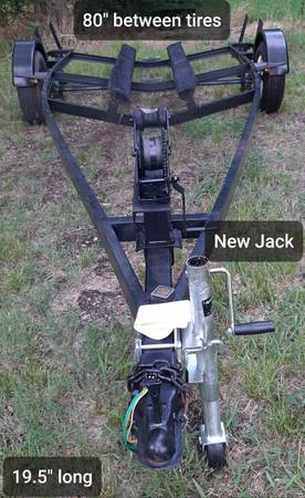 Photo Boat Trailer for Sale 19.539 long New lights, New Jack, New Tire - $650 (Bonham)