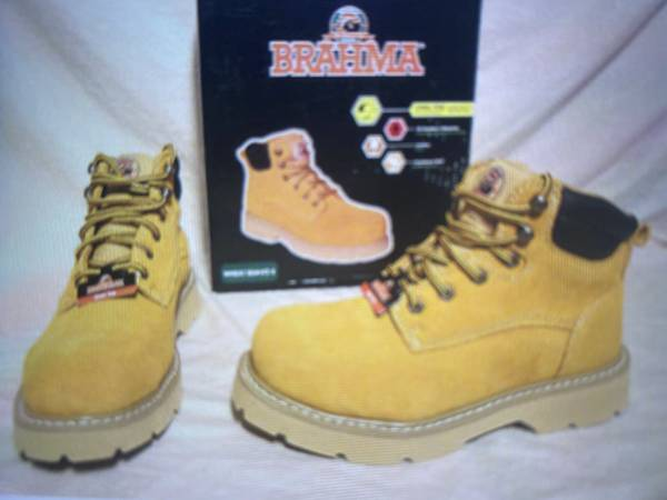 Photo Brahma Wheat Steel Toe Boots NEW Sz 9.5 - $30 (Desoto)