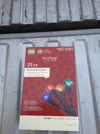Photo Christmas Lights 25 ct. Globe light REDUCEDs - $5 (carrollton)