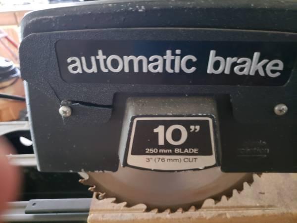 Photo Dewalt 10 in 3 12 HP heavy duty radial arm saw - $150 (Cartwright)