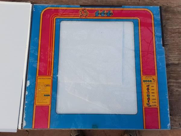 Photo Glass Display from Original Ms. Pac-Man Arcade Game - $40 (Denison)
