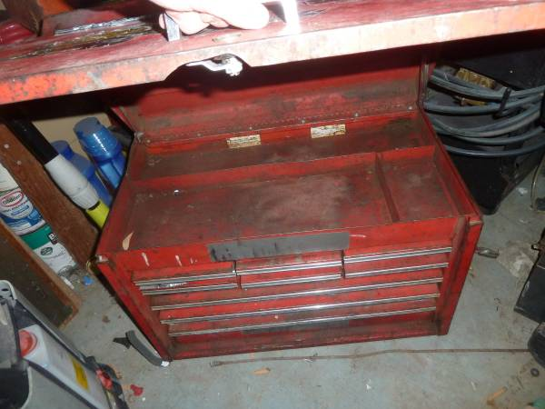 Photo VINTAGE SNAP ON TOOL CABINET, TOOL BOX, TOOLBOX HAS 9 DRAWERS  TOP - $375 (Waxahachie)