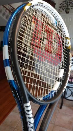 Photo Wilson Hyper Hammer 5.3  Babolat Drive Max 110 Tennis Racquet 4.38 - $250 (FORT WORTH)