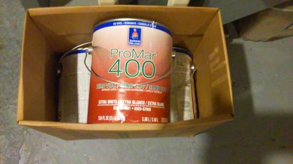 Photo 3- Gallons of Sherwin Williams 6162 Ancient Marble color shown in pic - $25 (Melvindale)