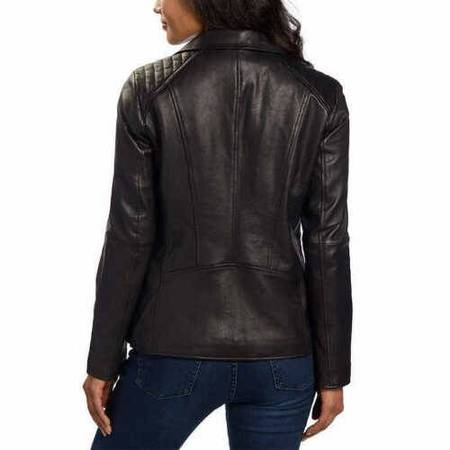 Photo Andrew Marc New York Ladies39 Leather Jacket Size MED Black - $75 (Rochester)