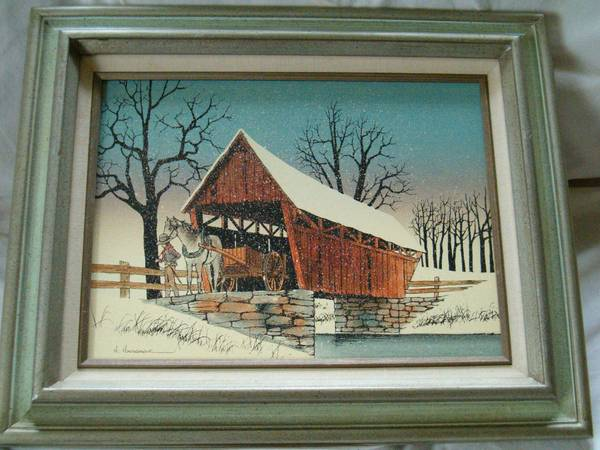 Photo Covered Bridge by H Hargrove - $25 (chesterfield area)