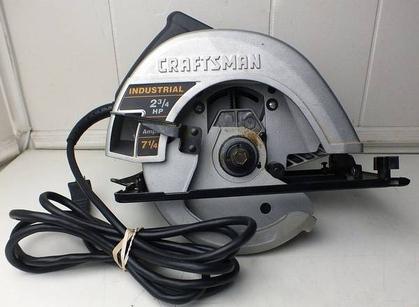 Photo Craftsman Circular Saw Corded Electric 7 14quot 5000-RPM - $30 (Dearborn Heights)
