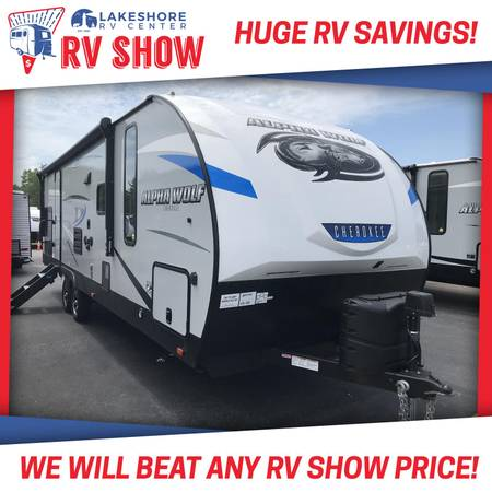 Photo Forest River Cherokee Alpha Wolf 26RB-L Travel Trailer RV Cer - $25,775