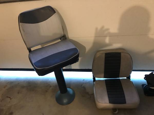 Photo I have two good used boat seats for sale - $25 (Caro)