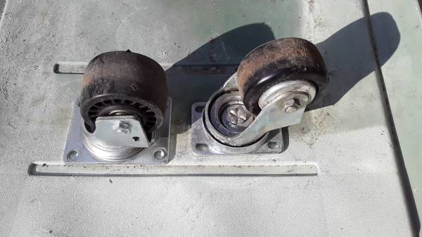 Photo Set of Four Extra Heavy Duty Casters - $30 (Milford)