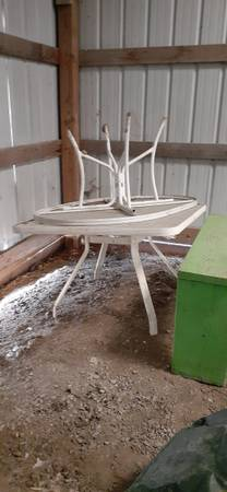 Photo 2 glass top patio tables and chairs - $15 (Otterbein)