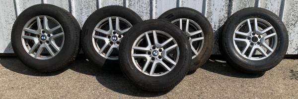 Photo BMW OEM Wheels and Tires with Spare - $250
