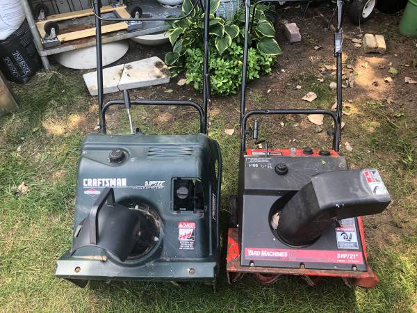 Photo Craftsman and Yard Machine snow thrower - $60