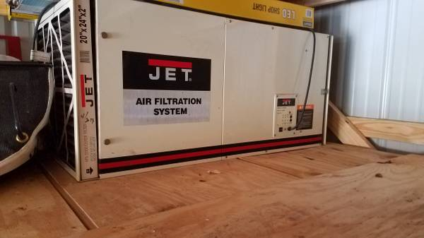 Photo JET AIR FILTRATION FOR DUST IN SHOP - $450 (Lafayette)