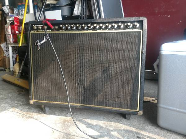 Photo 1980 FENDER SUPER TWIN REVERB TUBE AMPLIFIER FOR SALE - $750 (Fremont)