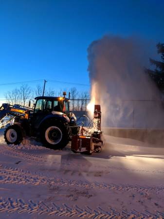 Photo Ag Tractor with inverted snowblower. - $40,000