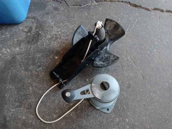 Photo Boat anchor with mount and winch - $30