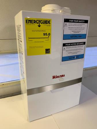 Photo Boiler - Rinnai, New model M090CN, 90,000 BTU Condensing Wall Mounted - $1,495 (Piqua)