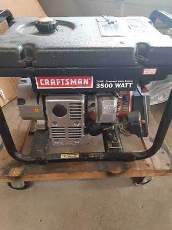 Photo Craftsman 3500 watt Gas Generator-$225 o.b.o.(motivated seller) - $225 (Washington local)