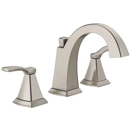 Photo Delta Flynn Stainless 2-Handle Widespread Bathroom Faucet - $50