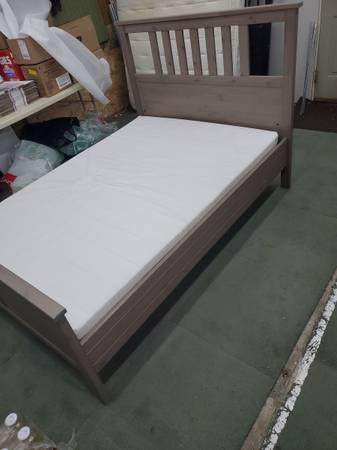 Photo IKEA HEMNES full size bed with mattress - $225 (Toledo)