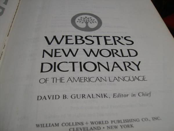 Photo Webster39s New World Dictionary - $5 (Bowling Green OH)