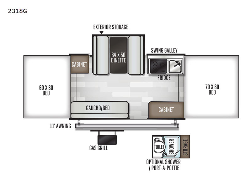 Photo 2021 Forest River Rv Rockwood Freedom Series 2318G $13998