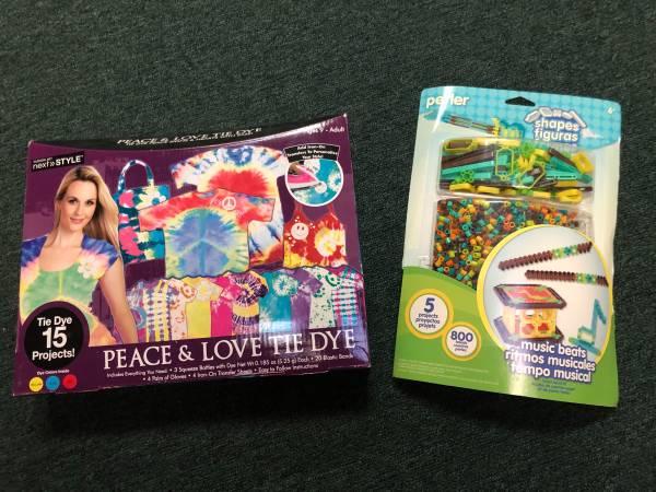Photo NEW Peace  Love Tie Dye and Perler Beads Music Notes (Lambertville  Toledo)